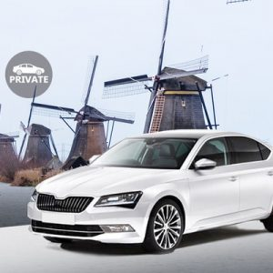 white sedan for Private Schiphol Airport (AMS) Transfers for Kinderdijk