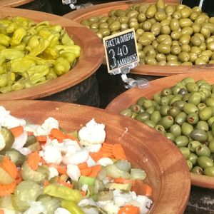 Greek delicacies for sale
