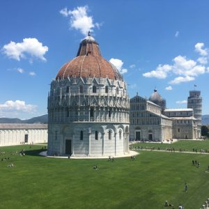 exterior of baptistery in pisa