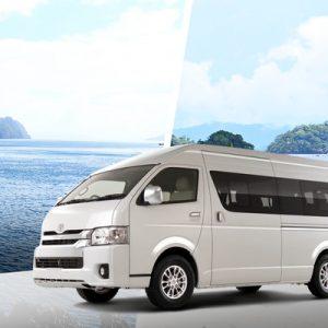 white van in palawan
