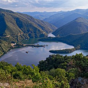 varcha dam in rhodope mountains