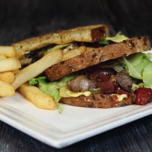 Lax Café's Cheese Steak Sandwich