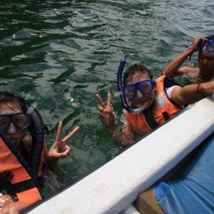 satang island full day tour snorkeling sarawak