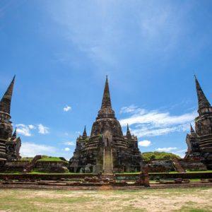 temple facade in thailand