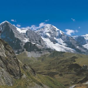 triple peak views of Eiger, Mönch and Jungfrau