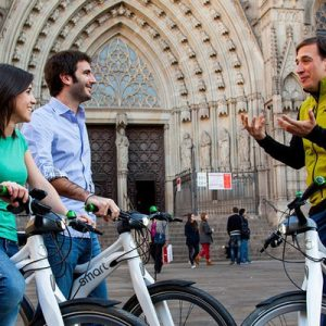 Guided Half Day 360º E-bike City Tour: Land, Sea and Air