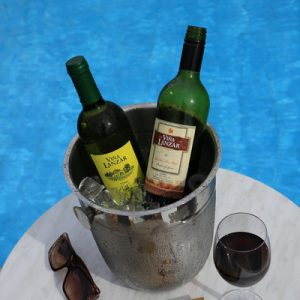 wine and pool