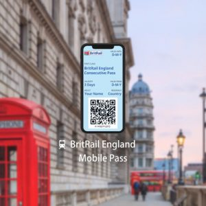 [E-Ticket] BritRail England Mobile Pass (Consecutive 3, 4, 8, 15, 22 Days or 1 Month)