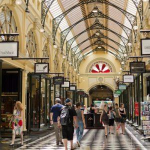 shopping arcade in melbourne