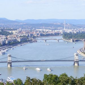 view of budapest from the castle district