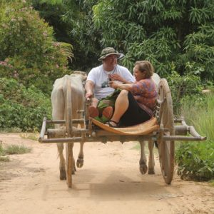 Ox-cart ride to traditional villages