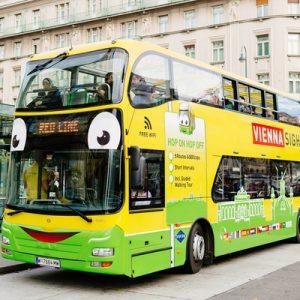 hop on hop off sightseeing bus vienna, walking tour vienna
