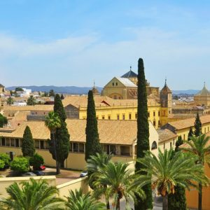 a panoramic view of the Alcázar of Cordoba