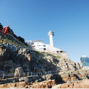 Taejongdae lighthouse by the cliff