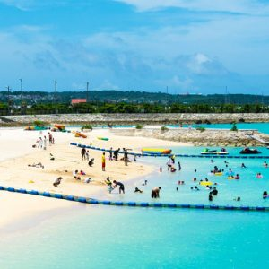 people swimming at bibi beach