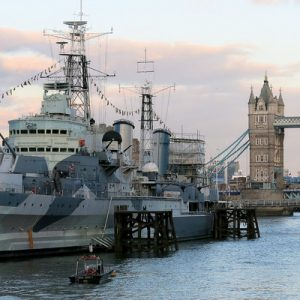 tower bridge with ship in london