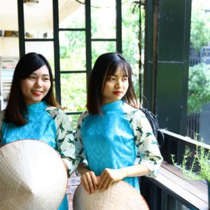 women wearing ao dai