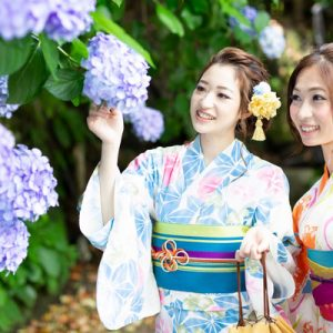 tourist pose for a photo in japan