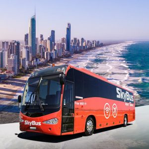 red skybus for transfers between hobart airport and hobart city