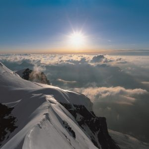 sunrise at Jungfraujoch peak