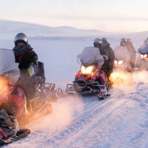 snowmobile in tromso