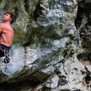 rock climbing laos