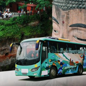 shared shuttle bus transfers chengdu leshan giant buddha