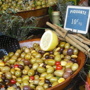 olives in a Provencal market