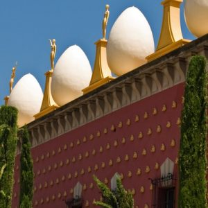 Dalí Museum roof with eggs