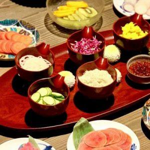 variety of temari sushi