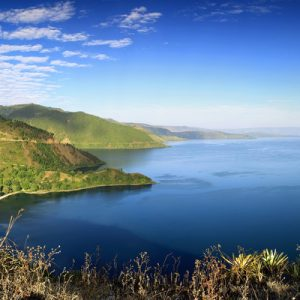 views of lake toba from Taman Simalem
