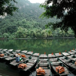 lake in trang an vietnam