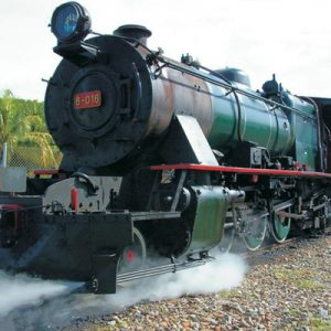 steam train in north borneo