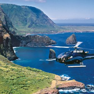 blue hawaii maui helicopter flying over landscapes