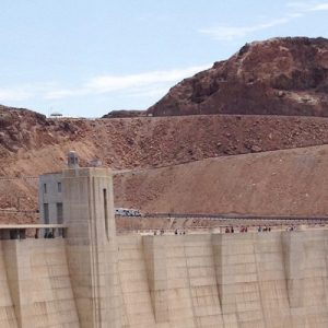a section of Hoover Dam