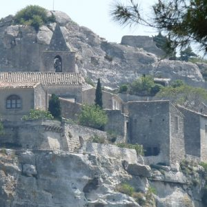 a view of Les Baux-de-Provence