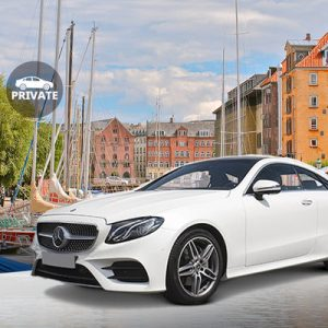 white sedan for copenhagen airport transfer
