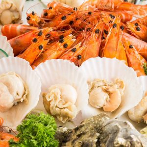 seafood buffet at The FernTree Cafe at Hotel Miramar
