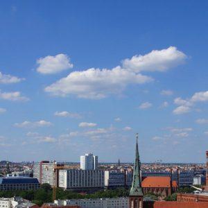 berlin builidings and berlin tv tower