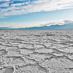 the Salt Flats of Death Valley