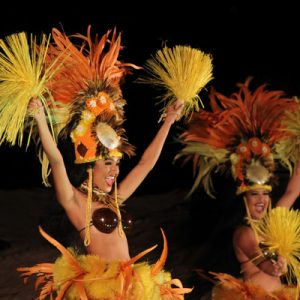 Cultural show in Sea Life Park Hawaii