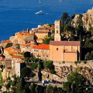aerial shot of french riviera landscapes