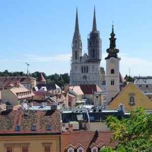 a view of some buildings in Zagreb