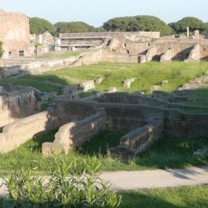 an area somewhere in Ostia Antica