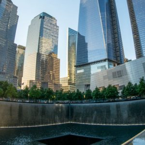 panoramic view of 9/11 memorial