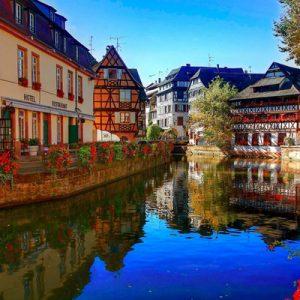 medieval neighborhood in Strasbourg