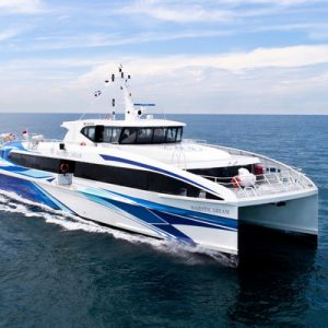 side view of the majestic fast ferry