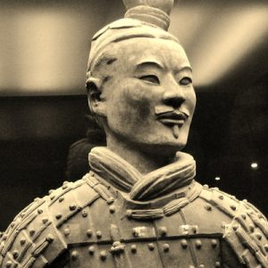 terracotta warrior sepia