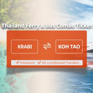 Lomprayah Ferry One Way Ticket to and from Krabi and Koh Tao