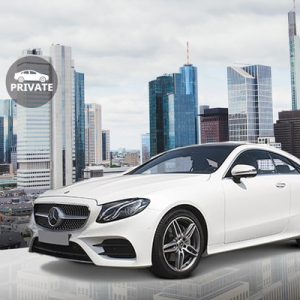white exclusive vehicle for the Private Frankfurt an Main Airport (FRA) Transfers for Frankfurt